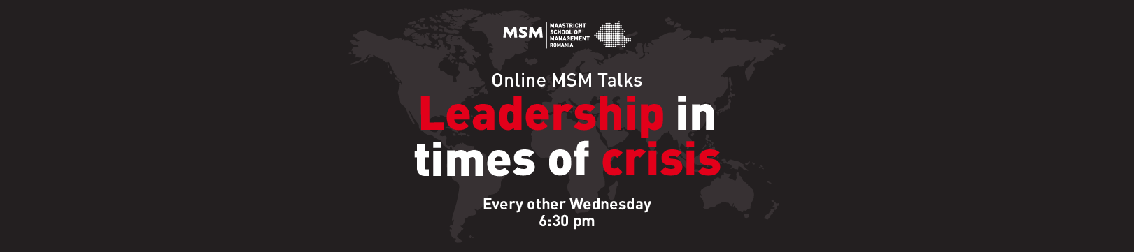 Leadership in times of crisis talks